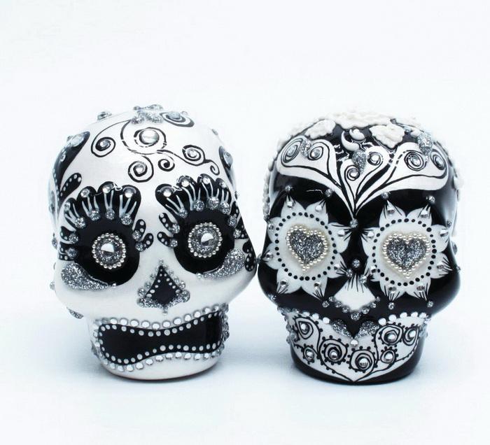 Skull Lover Wedding Cake Topper 0005