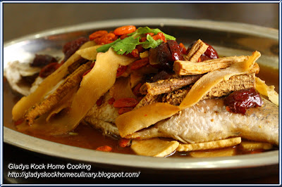 Steamed Herbal Seabass (Ikan Siakap) Homecooked Dish - After Steaming