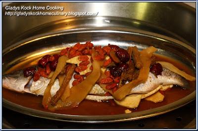 Steamed Herbal Seabass (Ikan Siakap) Homecooked Dish - Before Steaming