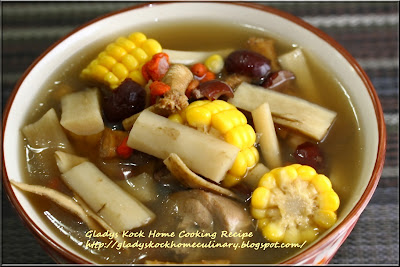 Great Burdock Soup with Corn and Chinese Herbs (药材玉蜀黍牛蒡汤)