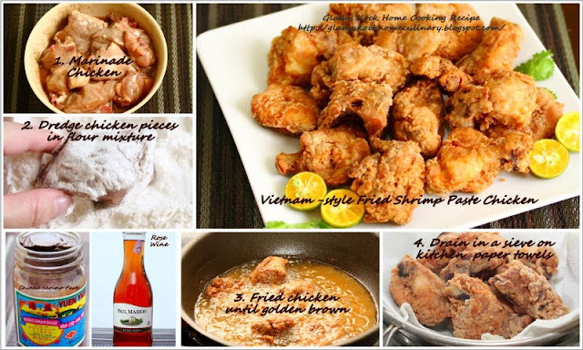 Vietnam-style Fried Shrimp Paste Chicken (Har Jiong Gai) : Ingredients and How-To Steps