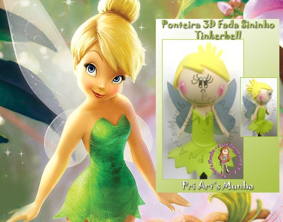 Ponteira 3D Fada Sininho   Tinker Bell