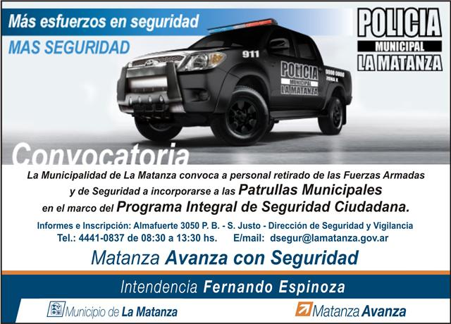 Paginas De Verdad La Municipalidad De La Matanza Convoca