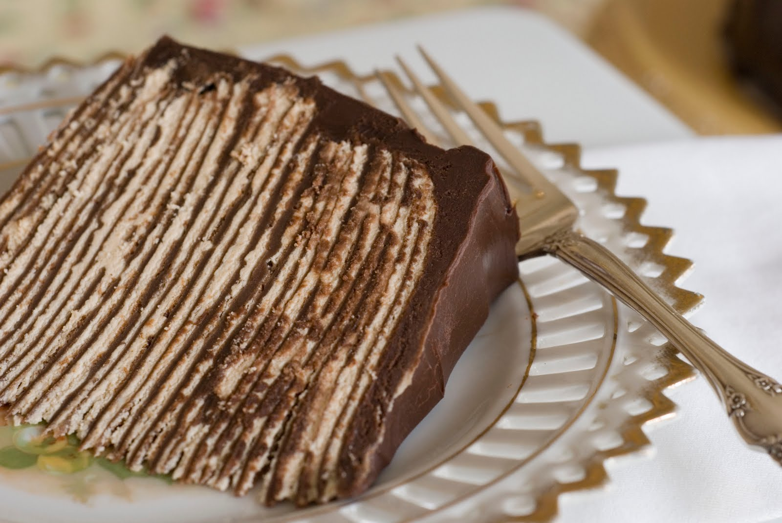 Simply So Good: Dark Chocolate Crepe Cake Step # 3 Chocolate Ganache