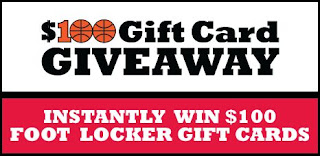Foot Locker $100 Gift Card Giveaway