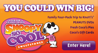 Cocos and Carrows SNOOPY So Cool Sweepstakes