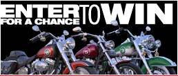 The Red Man Road Trip Promotion, win a motorcycle