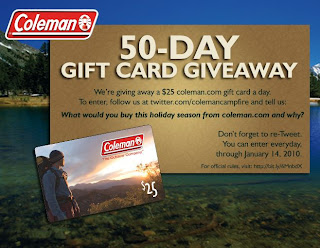 Coleman Campfire 50-Day Giveaway