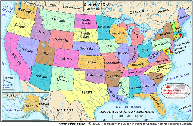 United States Outline Map Us Map With States Stock Images - Us map atlas