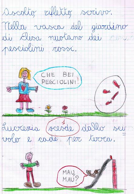 Sce e sci fumetti e dettato ortografico for Sce sci scuola primaria