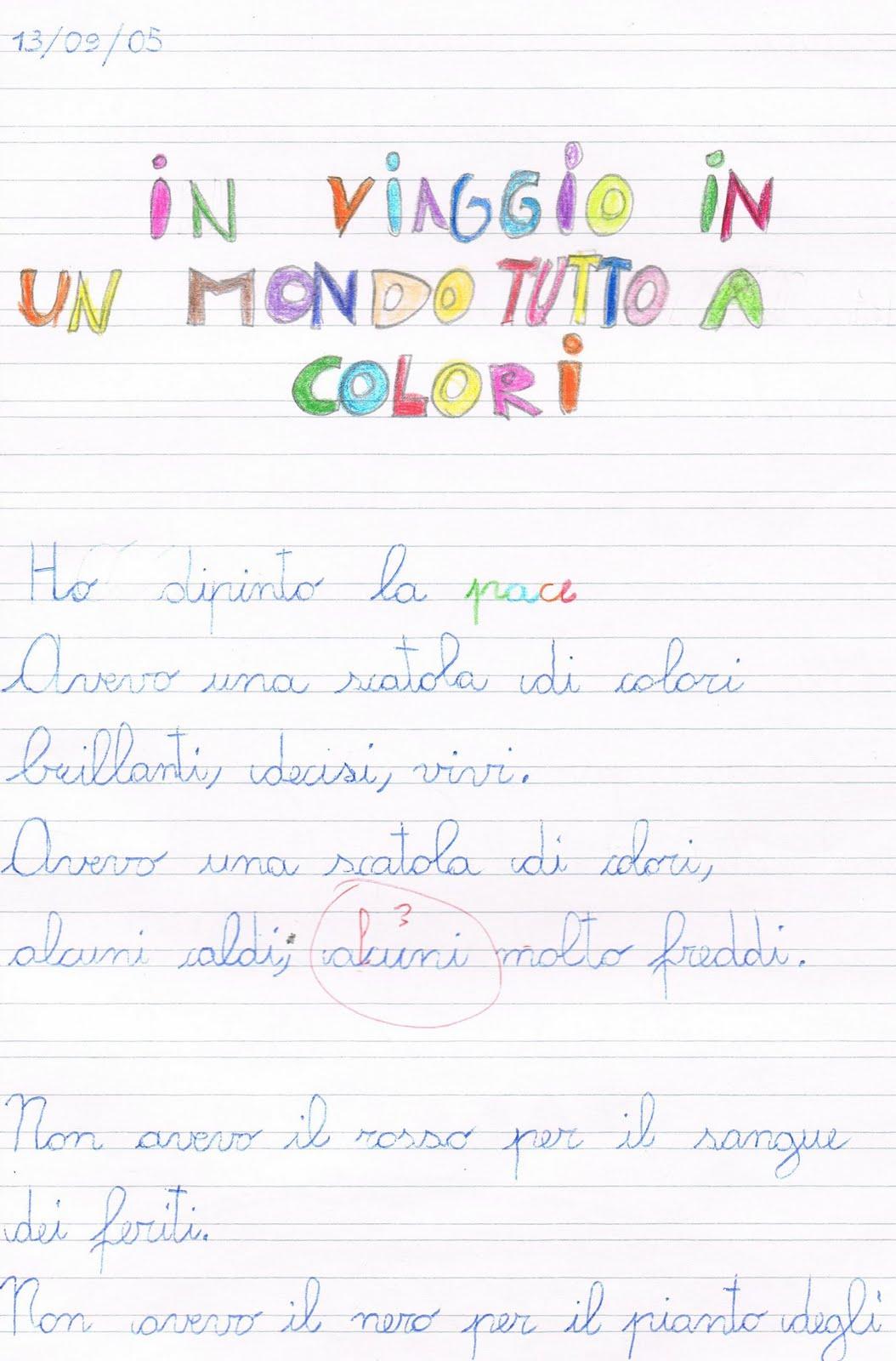 Favorito Primi giorni di scuola in classe terza - italiano KL53