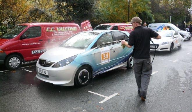 Tata electric car gets a jet-wash