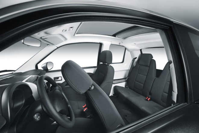 Think City interior showing rear seats