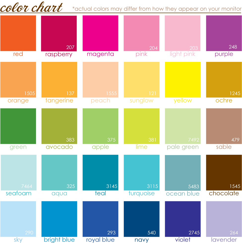 Look at the birdie and smile a color chart for Oriental colour palette