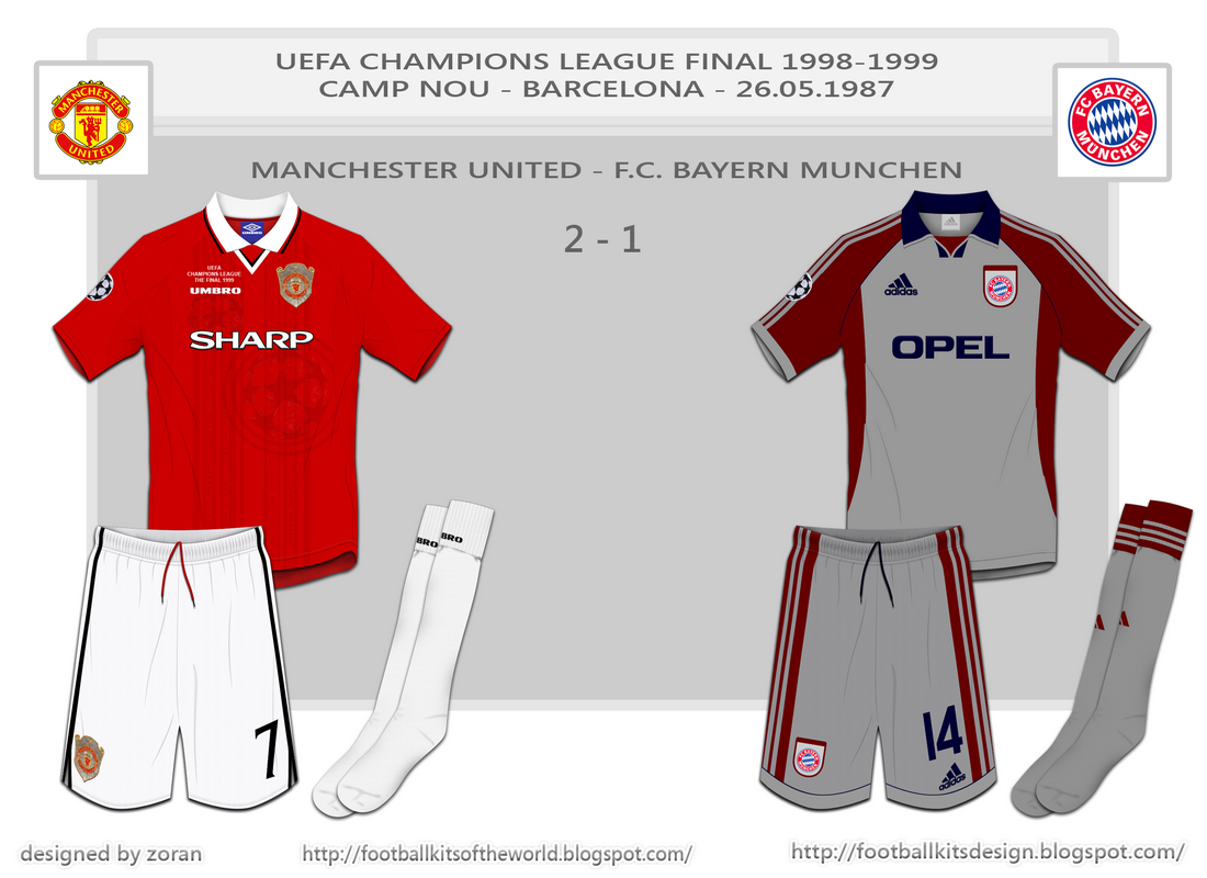 The Two Teams Where As I Presented Earlier Manchester United And FC Bayern Munchen Final Was Won By English Team In Last Seconds Of