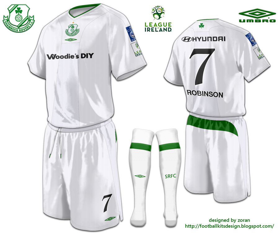football kits design: Shamrock Rovers F. C. fantasy kits