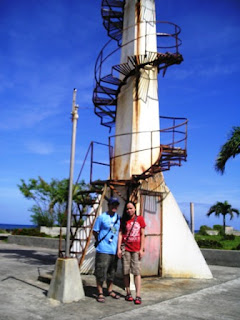Mye & Doms at the Parola in Camiguin