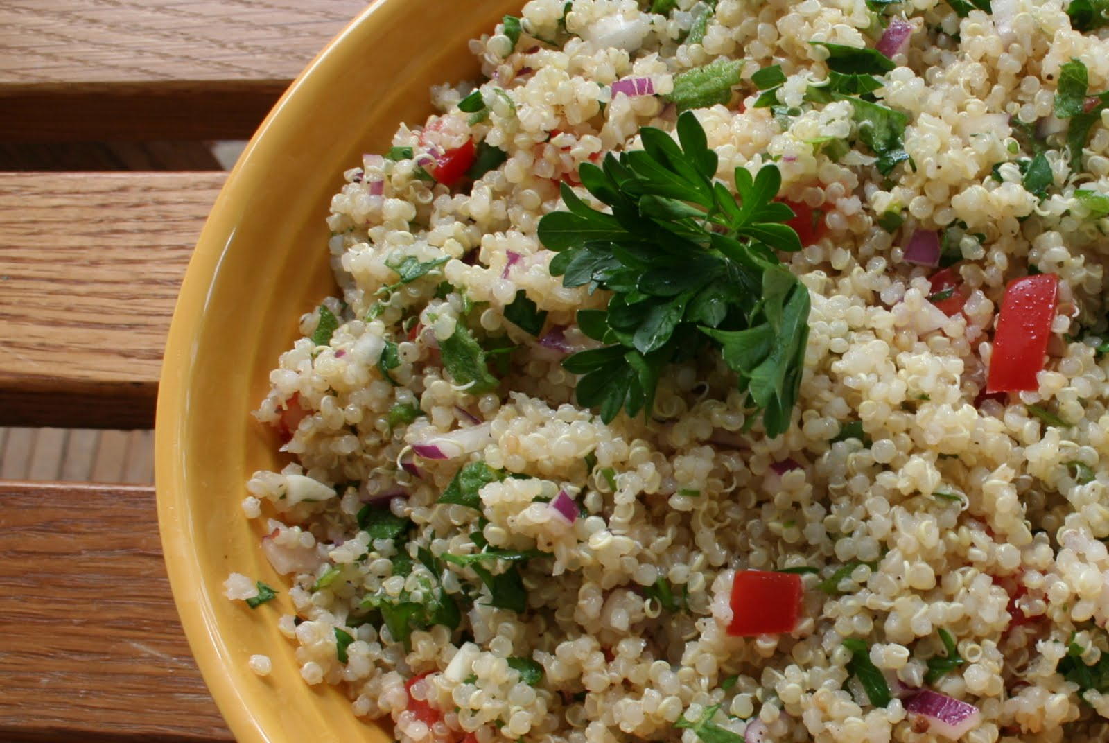 Cheers to Happy: Quinoa Salad with Lime and Fresh Mint...