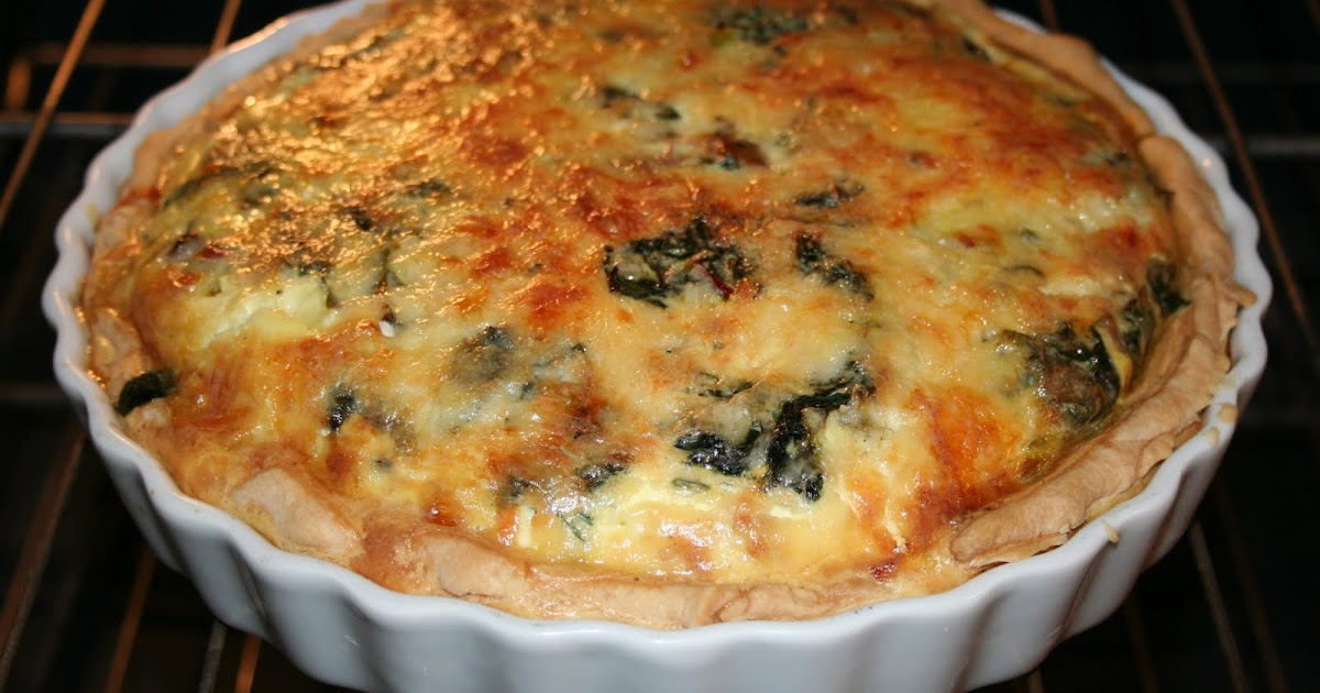 Chard and Mushroom Quiche Recipe picture