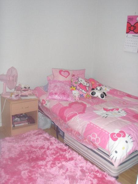 kimitty kim pink hello kitty bedroom