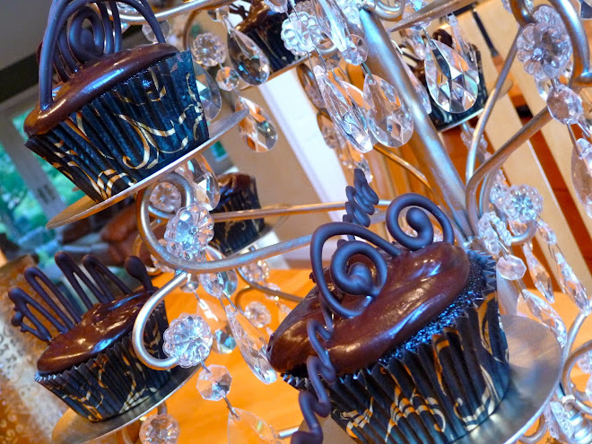 Old Fashioned Chocolate Cupcakes with New Fashioned Chocolate Embellishments