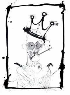 Hunter in Straight Jacket. Ilustración de Ralph Steadman