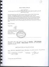 Surat Perlantikan Habib Hasan bin Mohammad Al-Attas Sebagai Penasihat Di Ribat, Tarim