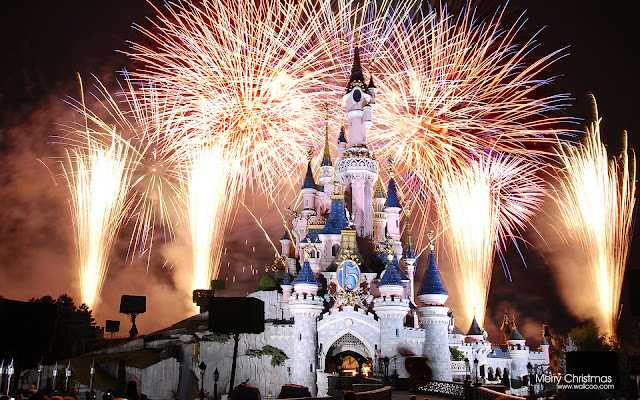Firework Celebration Castle Wallpaper - free download wallpapers