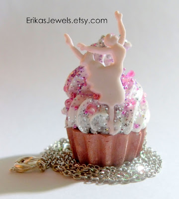 Ballerina Cupcake Necklace