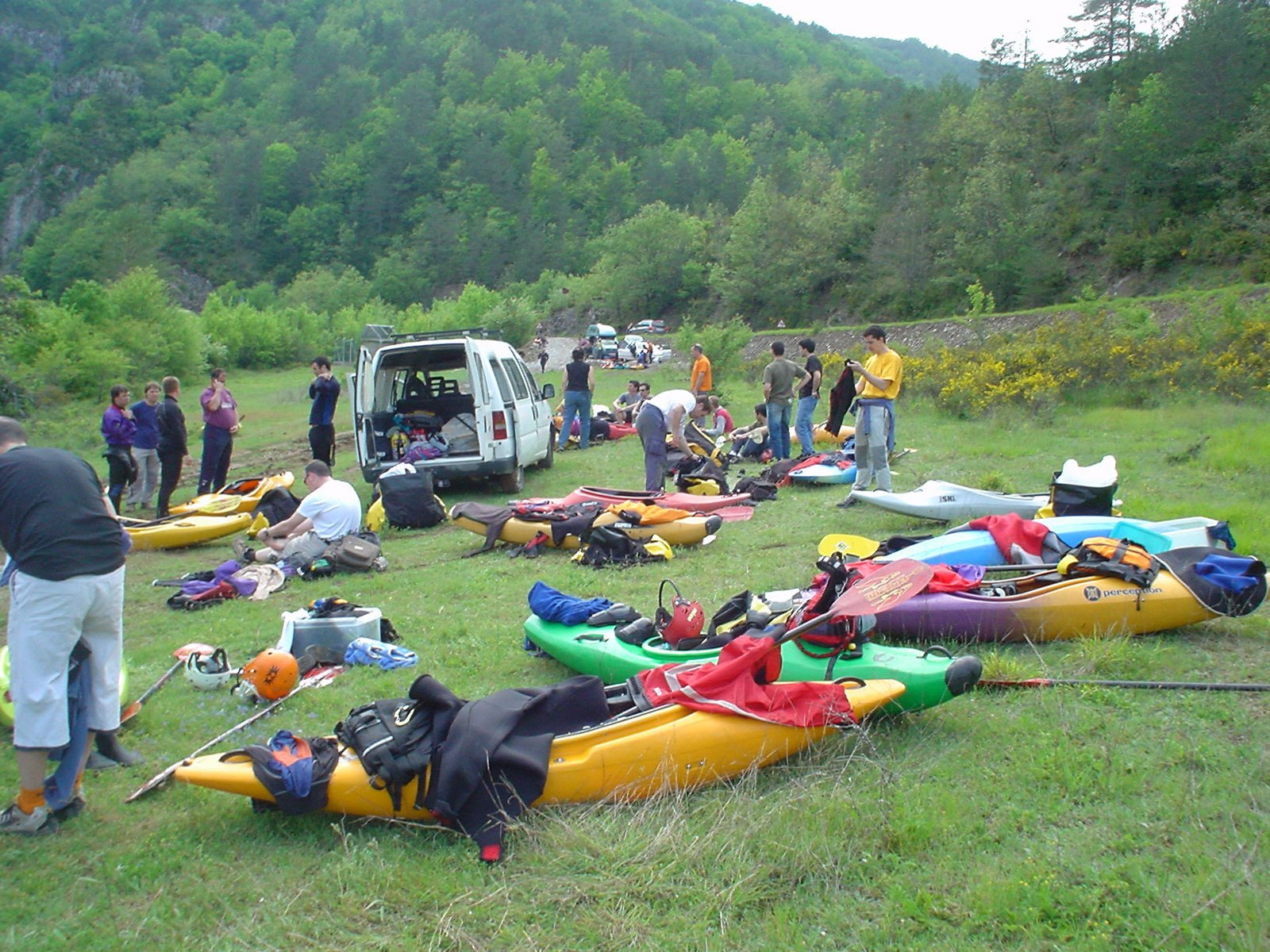 Tipica reunion del Iruña Kayak