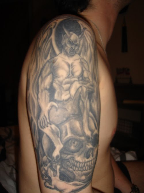 I like japanese demon tattoos I kinda like the 1st design. 28/02/2010