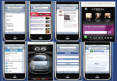 Quelques sites optimisés iPhone