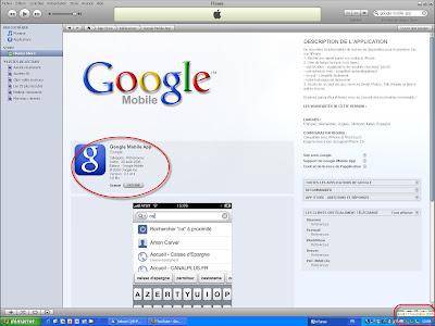 Screenshot iTunes - Google Mobile App