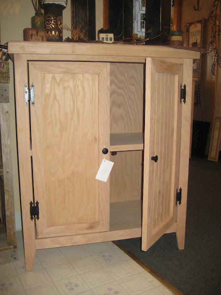 Solid Oak Cabinet (unfished)