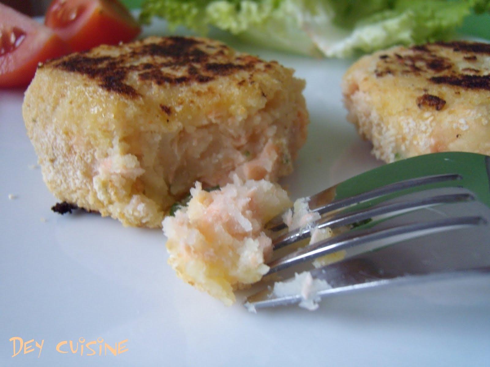 dey cuisine croquettes de pommes de terre au saumon. Black Bedroom Furniture Sets. Home Design Ideas