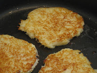 gluten-free smoked salmon and potato pancakes