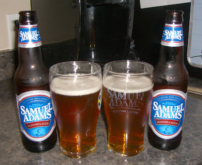 sam adams beer glass. (This eer comes in at 4.75