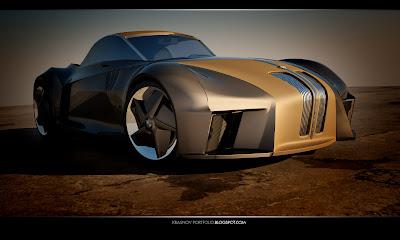 BMW Sports Couoe Design 1 BMW Sports Coupe Concept Car by Kransov Igor