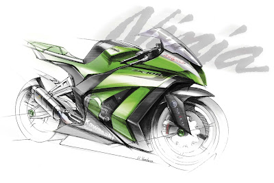 2011 zx10r teaser Kawasaki Teases 2011 ZX 10R with Fantastic Sketches and Video