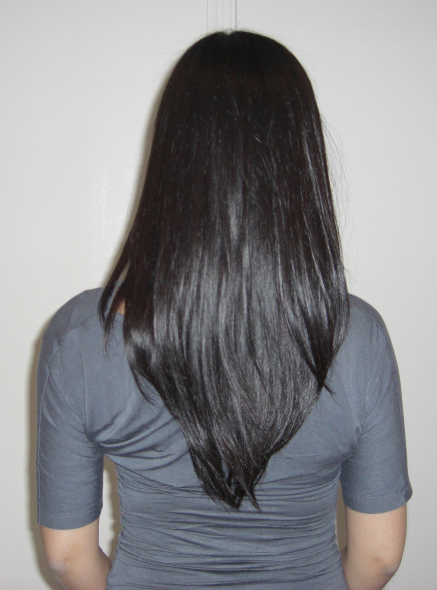 V shaped haircut front view