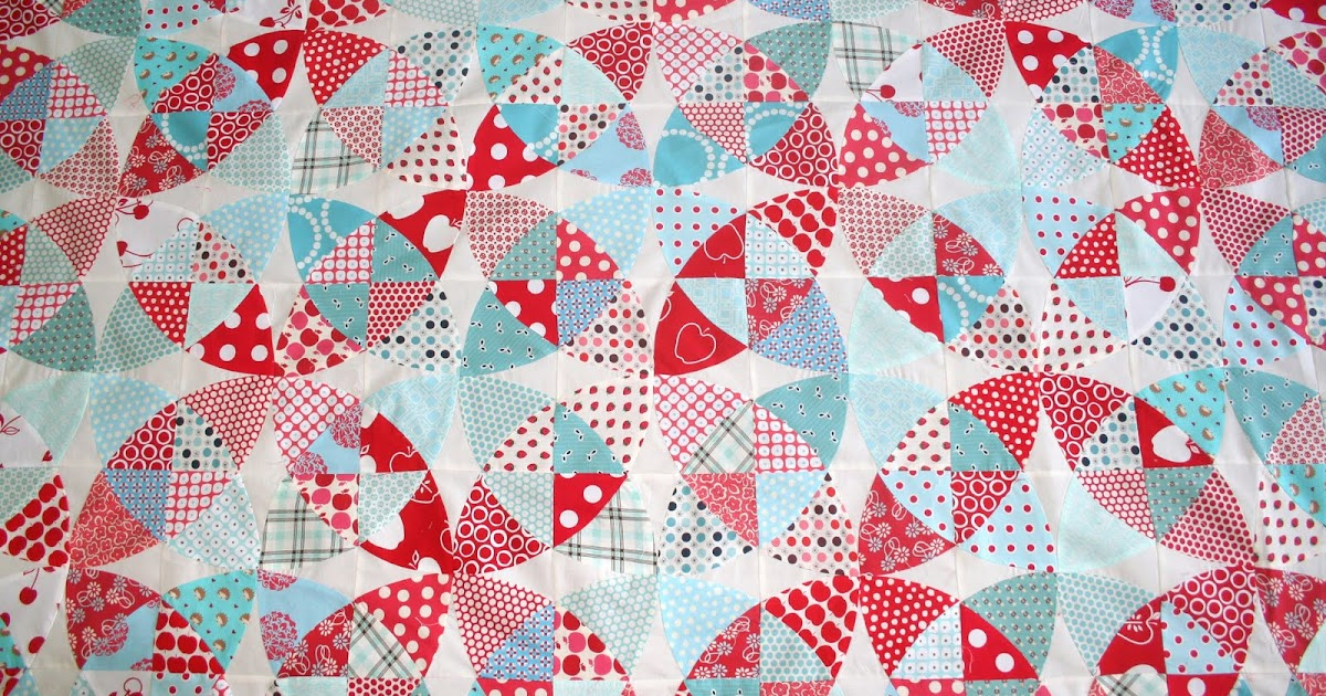 Gone Aussie Quilting Winding Ways Quilt In Aqua And Red