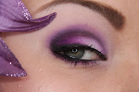 purple evening makeup