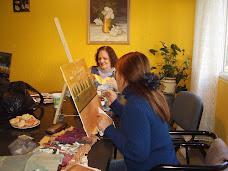 Las chicas trabajando...