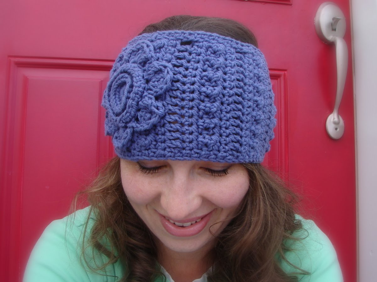 Free Crochet Pattern Headband Ear Warmer Button : Taraduffs crochet and other stuff: headband /ear warmer ...