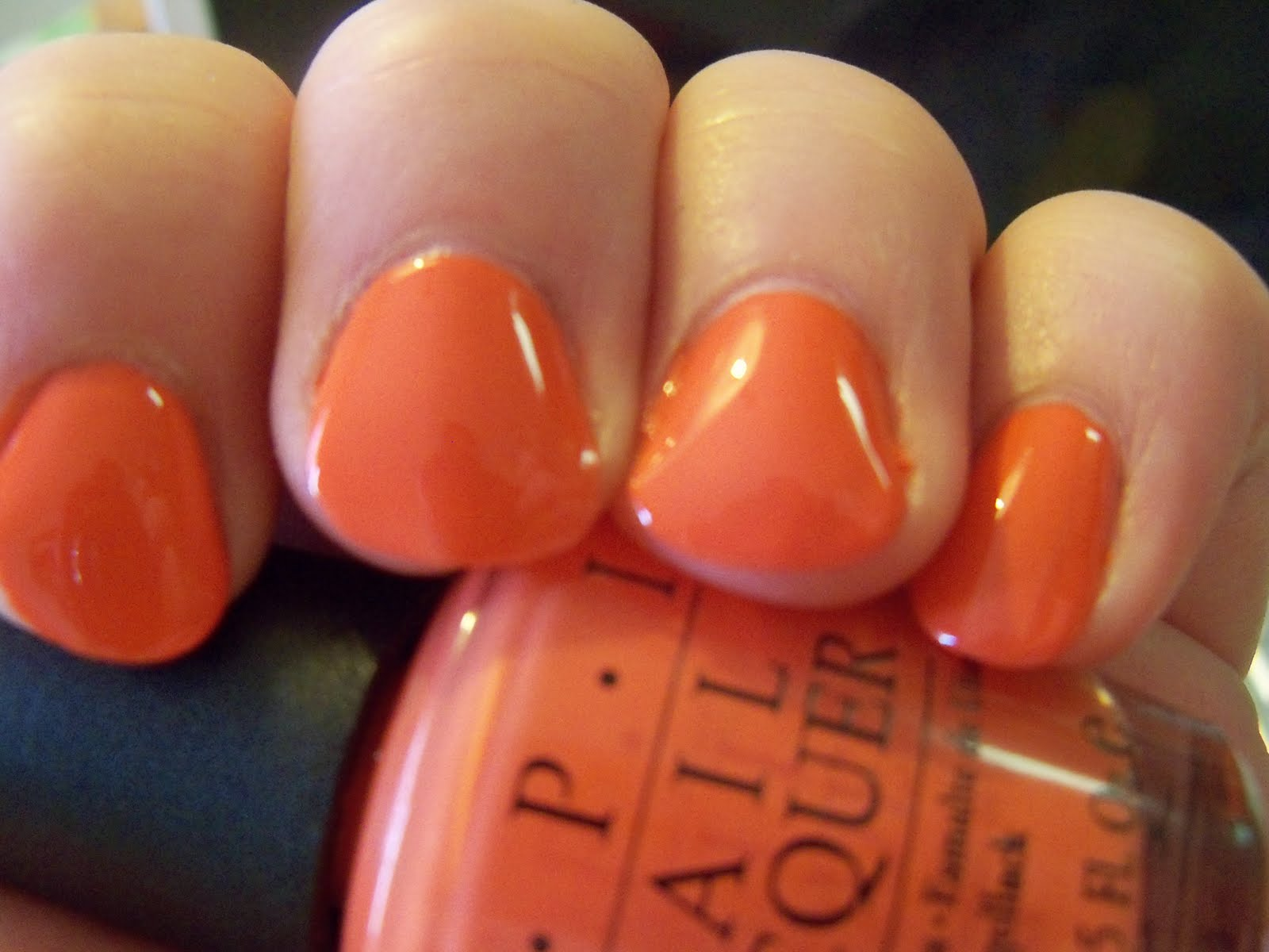 Opi A Good Mandarin Is Hard To Find Vs Hot And Spicy Hot  amp Spicy - warm