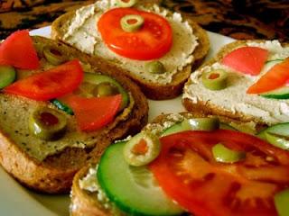 frukostmackor med hamas