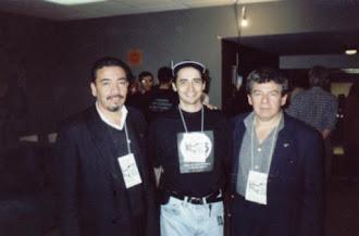 Com o ufologo Wallace Albino e Exequiel Valdes no Brasil