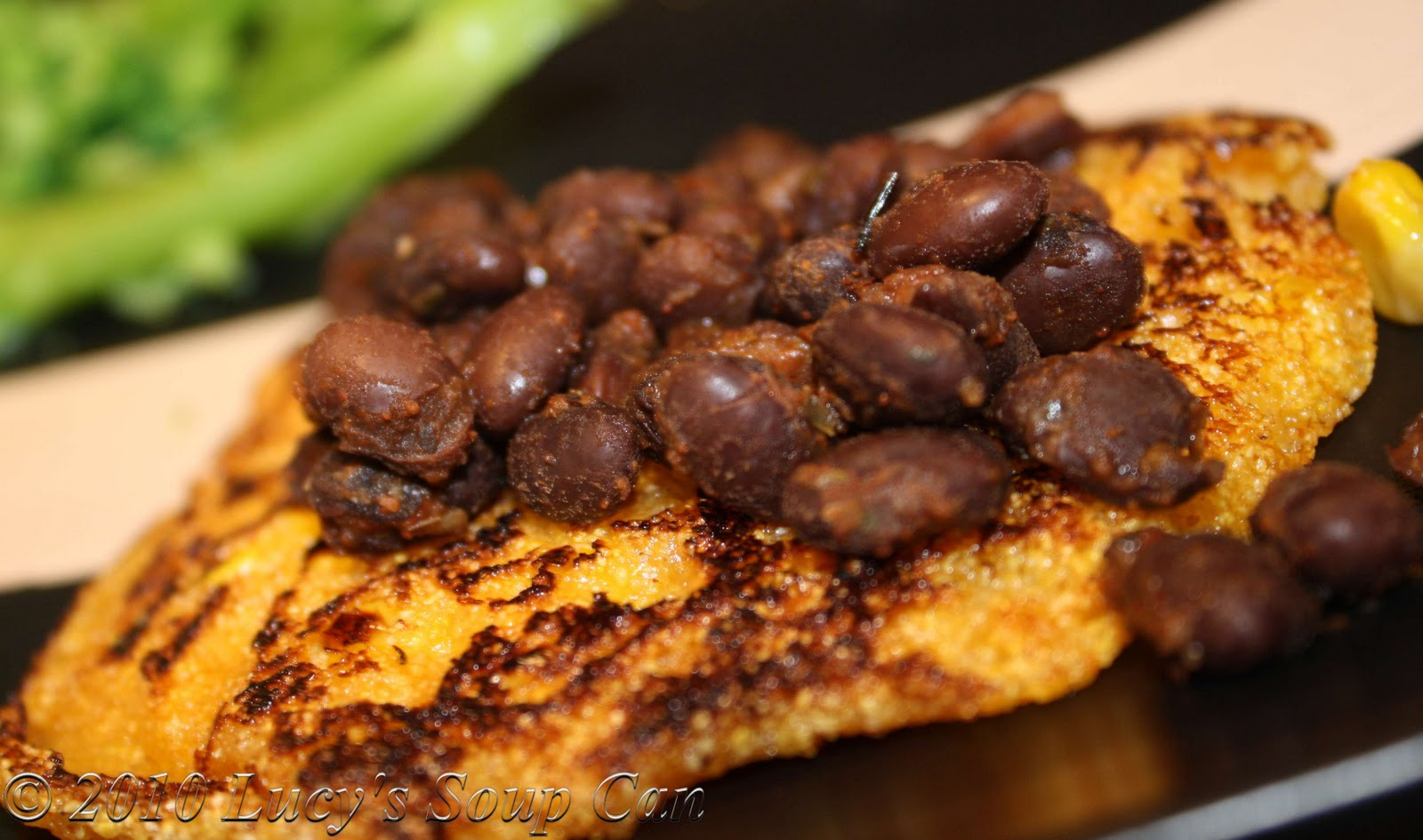 Lucy's Soup Can: Spicy Corn Cakes with Black Beans
