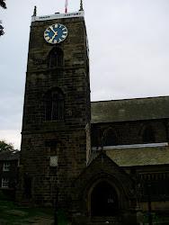 牧師館の目の前にあるハワースの教会です。この教会内に、シャーロット、ブランウェル、エミリが眠っています。