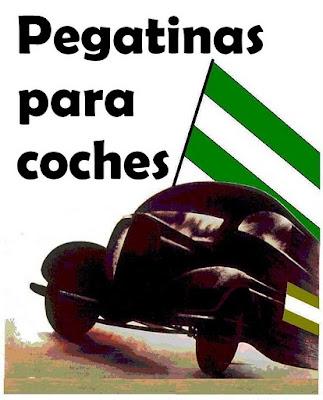 Universo andalucista pegatinas para coches for Pegatinas para coches
